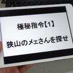 埼玉e街リポート番外編その1 極秘指令!?狭山のメェさんを探せ!